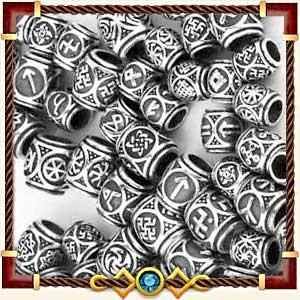Шармы и бусины с рунами из серебра и золота в Альметьевске